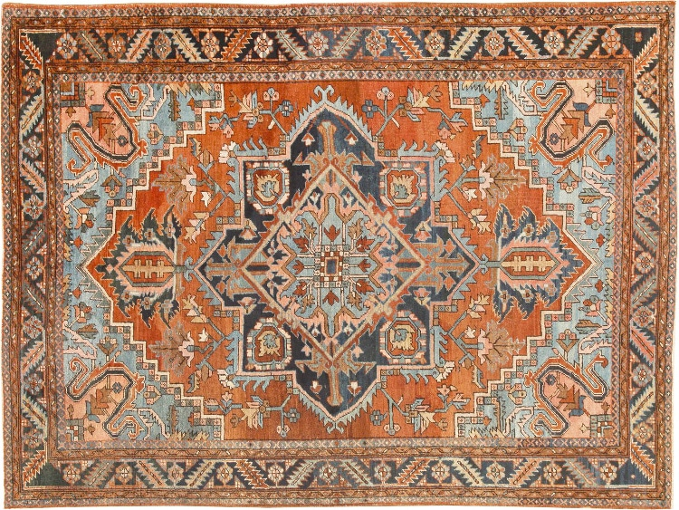 Antique Persian Heriz Carpet Nazmiyal