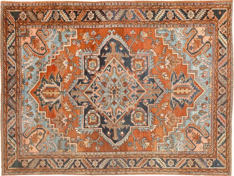 Antique Persian Heriz Carpet Nazmiyal