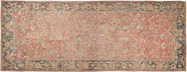 Oversized Antique 17th Century Persian Esfahan Oriental Rug, Nazmiyal