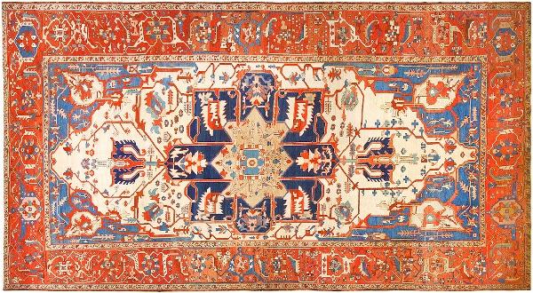 Antique Persian Serapi Carpets by nazmiyal