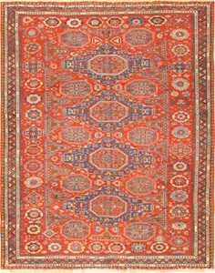 antique red soumak caucasian rug 49344 Nazmiyal