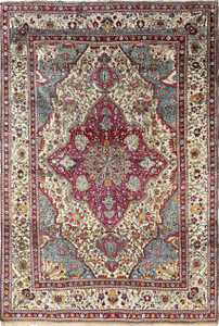 antique silk mohtasham kashan persian rug 51168 Nazmiyal