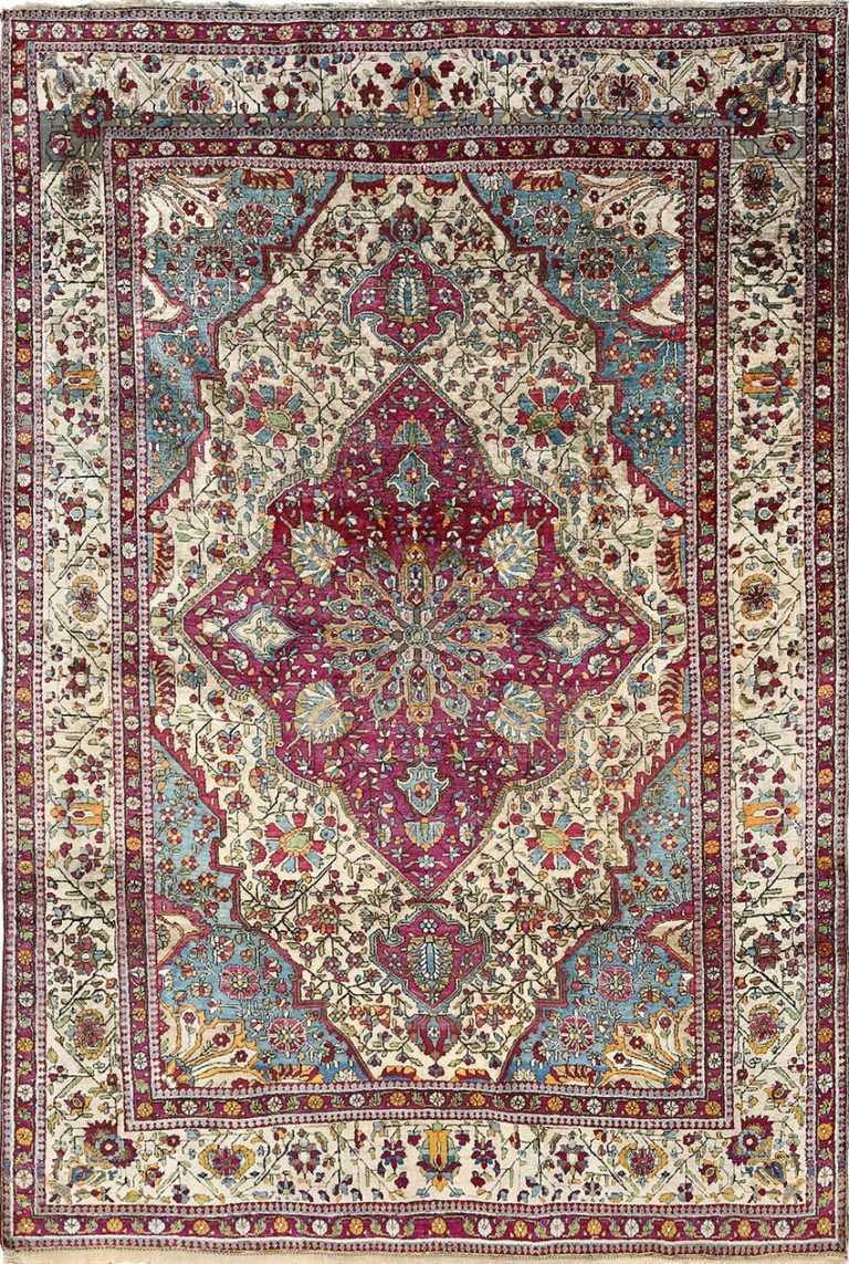 antique silk mohtasham kashan persian rug 51168 Nazmiyal