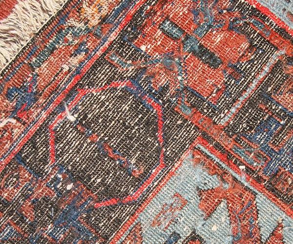 Antique Soumak Rug Weave by Nazmiyal