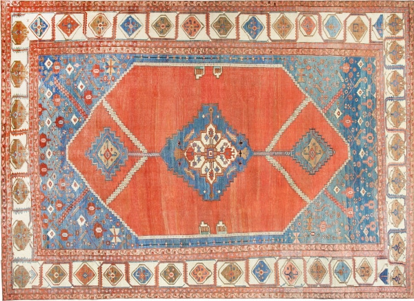 Large Size Antique Serapi Persian Carpet by nazmiyal
