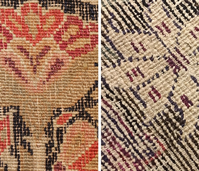 Coarse Carpet Weave Vs Finely Woven Rug by Nazmiyal