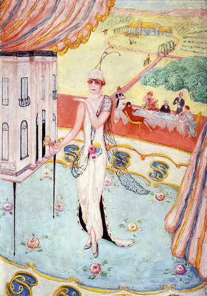 Florine Stettheimer's portrait of her Sister Carrie W. Stettheimer, 1923