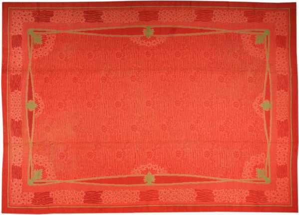 Large Size French Art Nouveau Vintage Rug, Nazmiyal