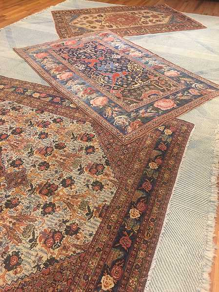 Layering Antique and Vintage Rugs, Nazmiyal