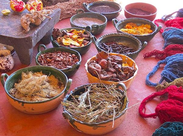 natural materials, minerals and plats for making Persian rug dyes by Nazmiyal