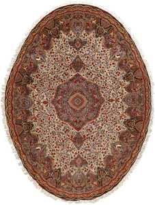 oval animal motif vintage tabriz persian rug 51120 Nazmiyal