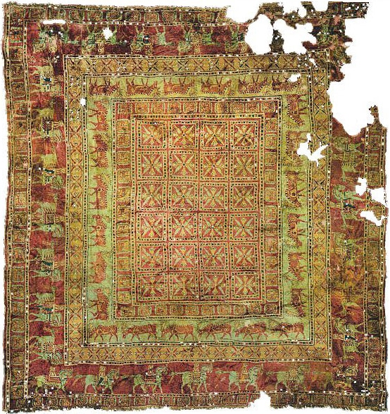 The Pazyryk Rug - The Oldest rug In The World by Nazmiyal
