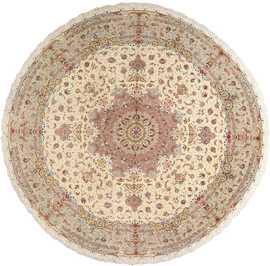 round vintage tabriz persian rug 51123 Nazmiyal
