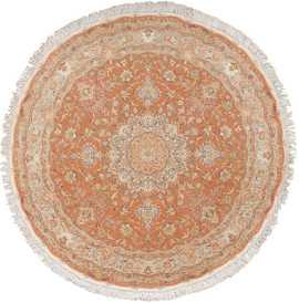 round vintage tabriz persian rug 51134 Nazmiyal