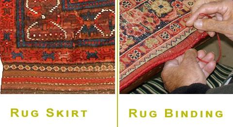 Rug Skirt and Rug Side Binding by Nazmiyal