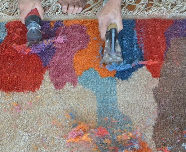 Shearing Hand Woven Rugs by Hand by Nazmiyal