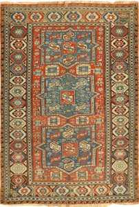 small antique tribal soumak caucasian rug 49356 Nazmiyal