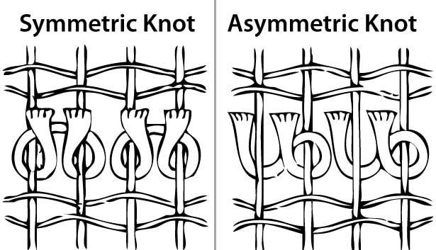 Symmetrical and Asymmetrical Rug Knots by Nazmiyal