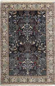 tree of life design vintage nain persian rug 51156 Nazmiyal