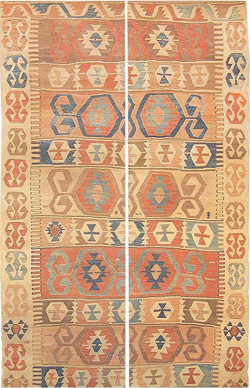 Tribal Antique Kilim Rug By Nazmiyal
