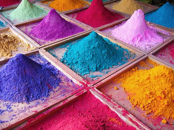 Vibrant Colorful Rug Dyes Pigments by nazmiyal