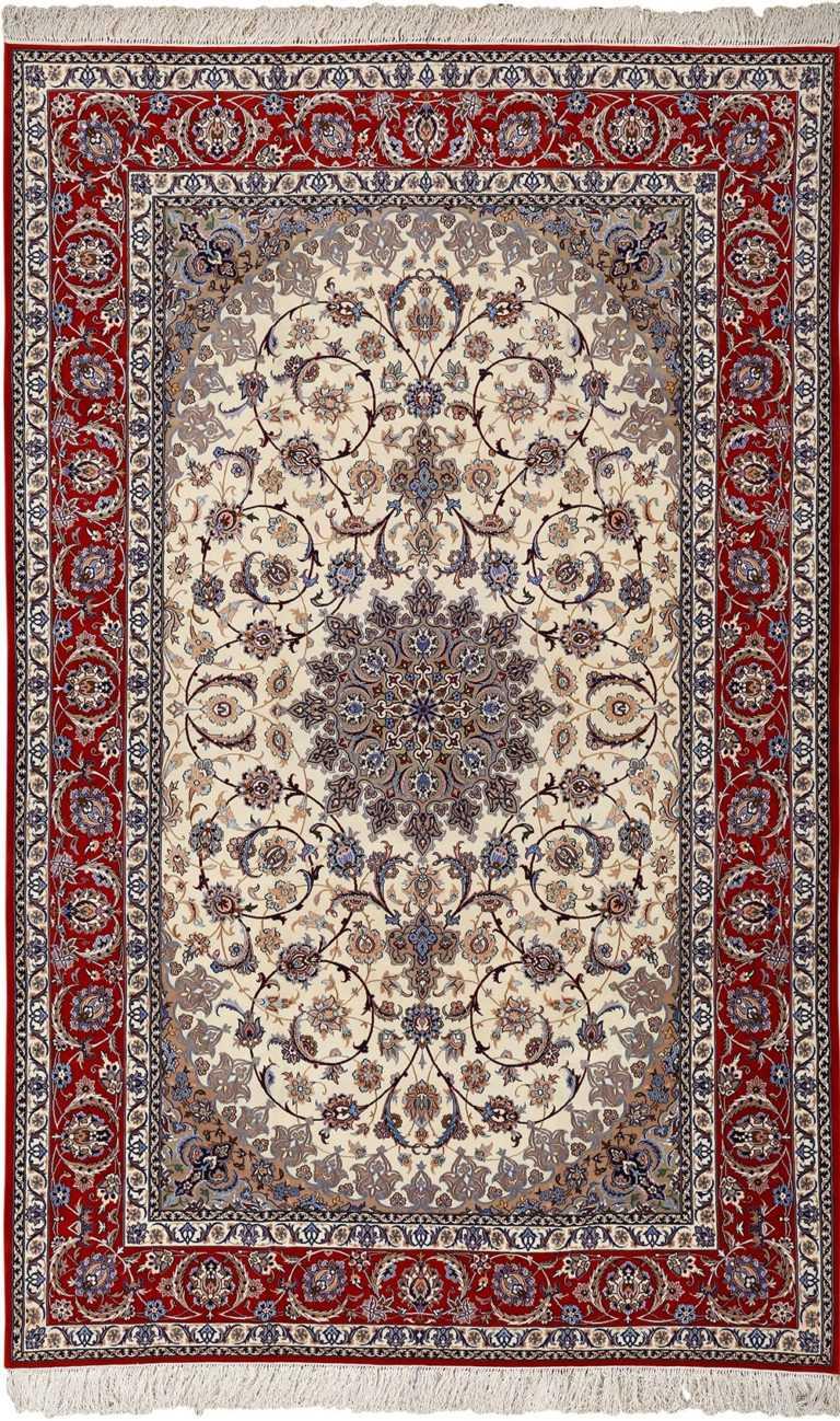 vintage isfahan persian rug 51140 Nazmiyal