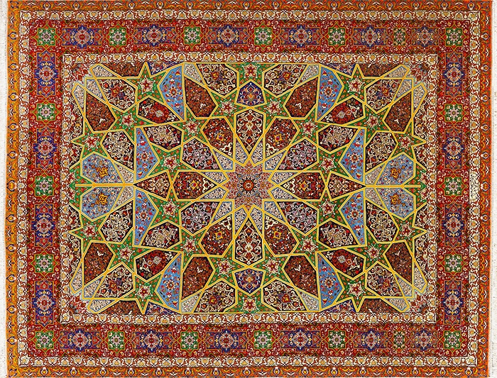 Vintage Persian Rug With Modern Dyes by nazmiyal