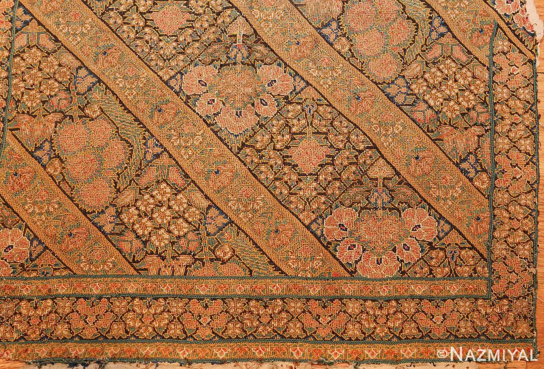 17th century persian textile 40547 corner Nazmiyal