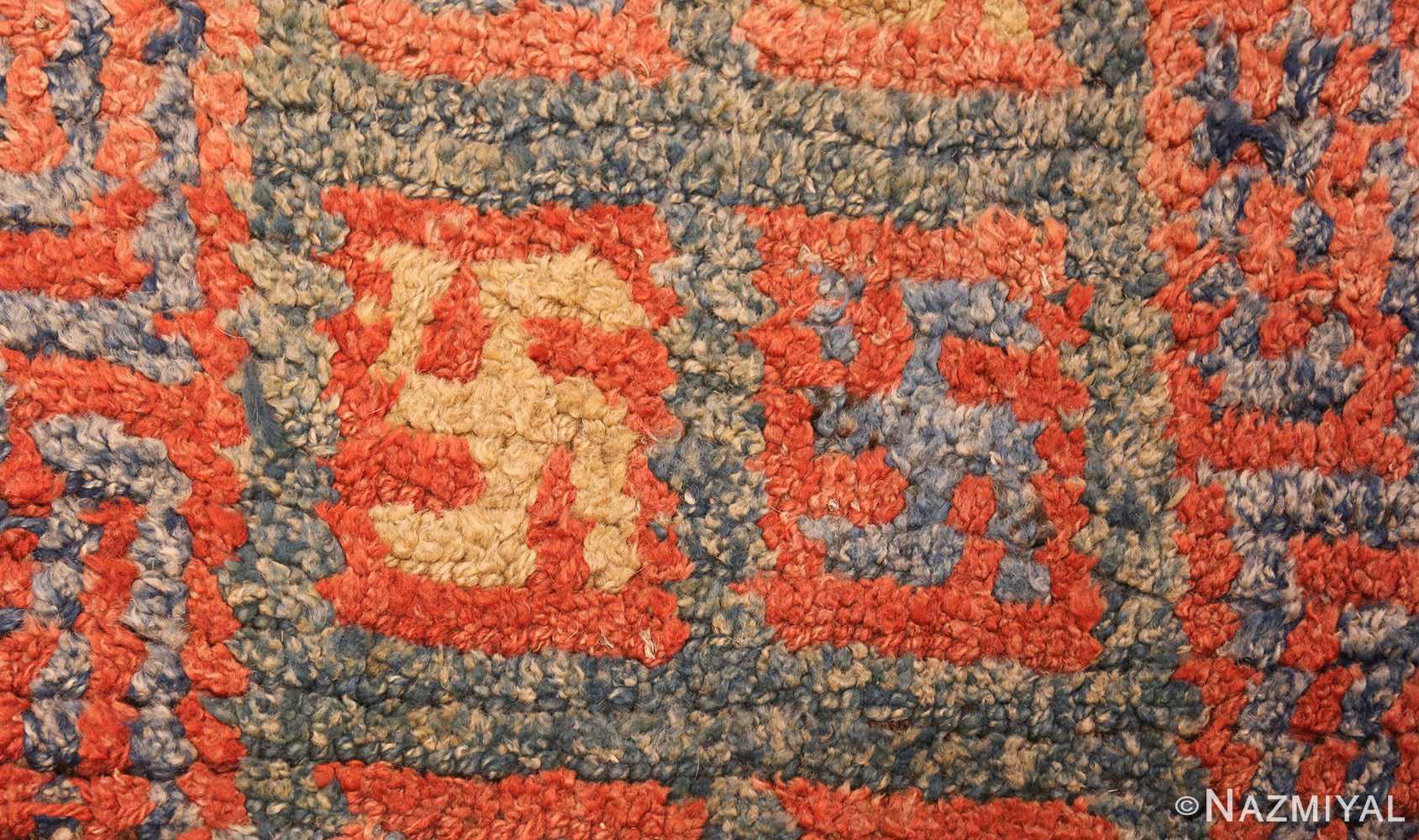 19 century tibetan wongdon runner rug 49101 closeup Nazmiyal