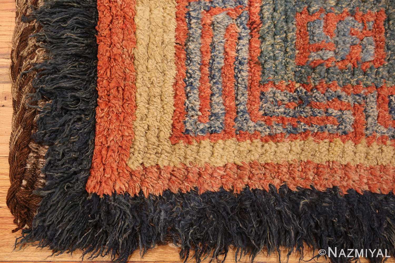 19 century tibetan wongdon runner rug 49101 corner Nazmiyal