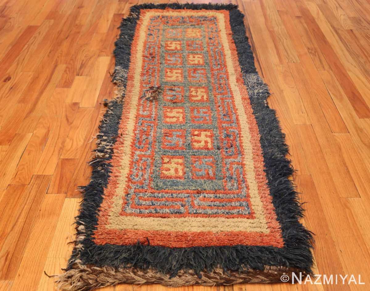 19 century tibetan wongdon runner rug 49101 weave Nazmiyal