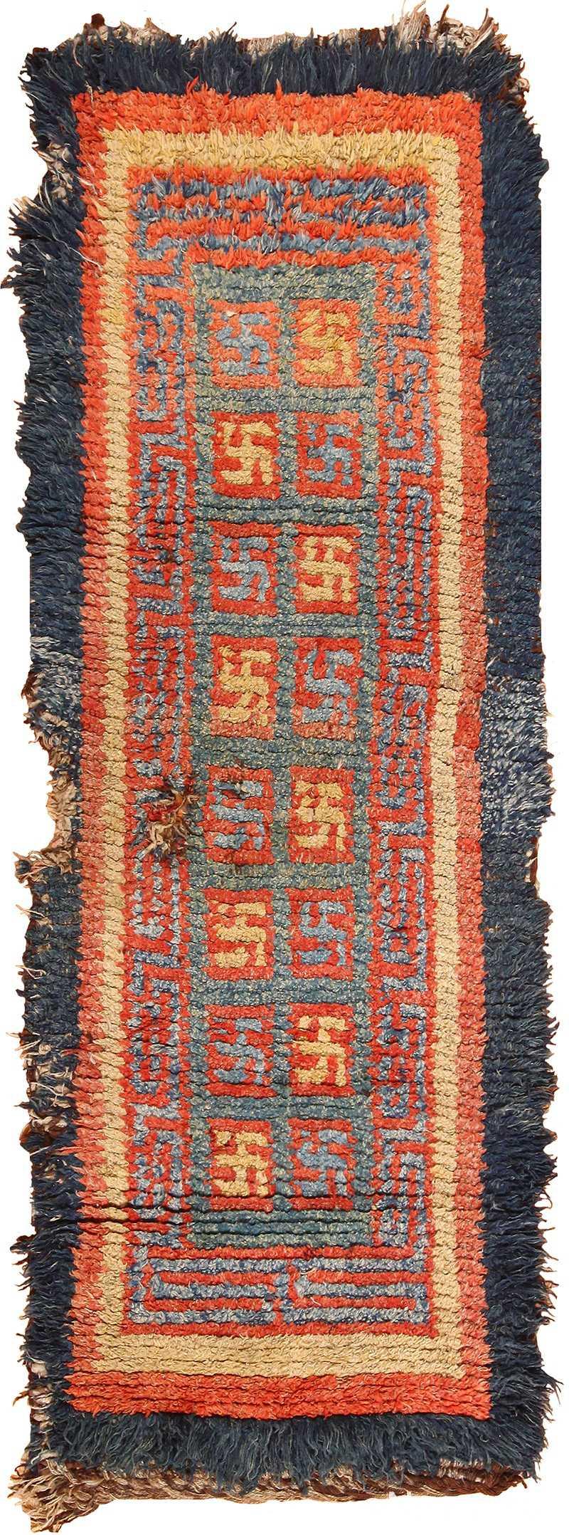19 century tibetan wongdon runner rug 49101 Nazmiyal