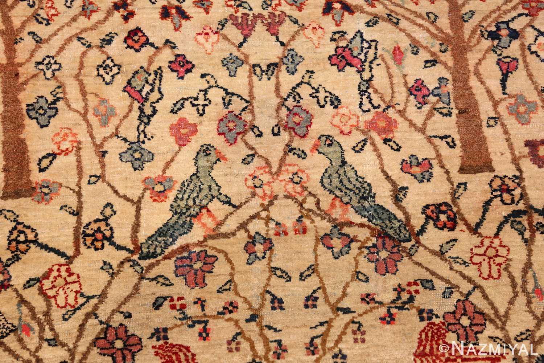antique animal motif tehran persian rug 49303 birds Nazmiyal