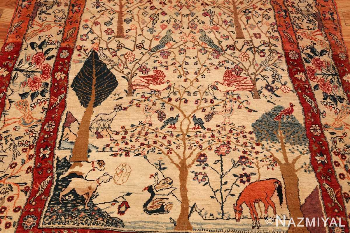 antique animal motif tehran persian rug 49303 full Nazmiyal