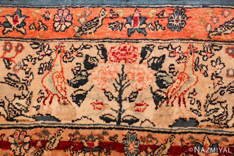 antique animal motif tehran persian rug 49303 peacock Nazmiyal