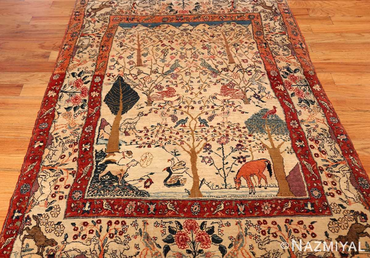 antique animal motif tehran persian rug 49303 whole Nazmiyal