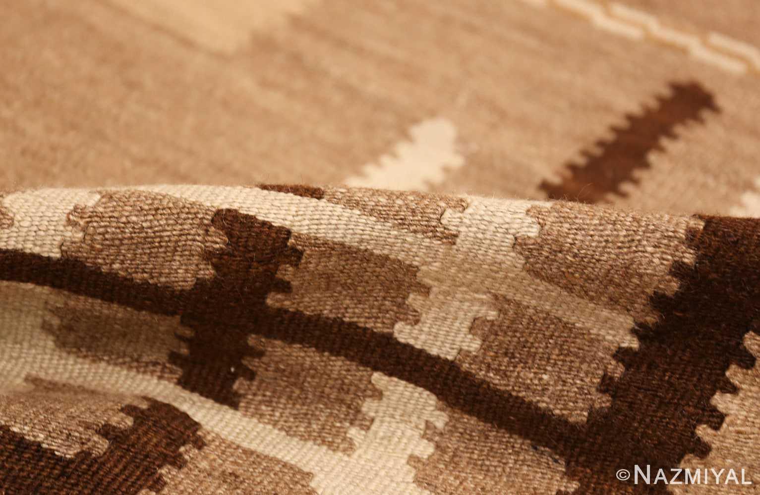 antique french art deco kilim rug 49256 pile Nazmiyal
