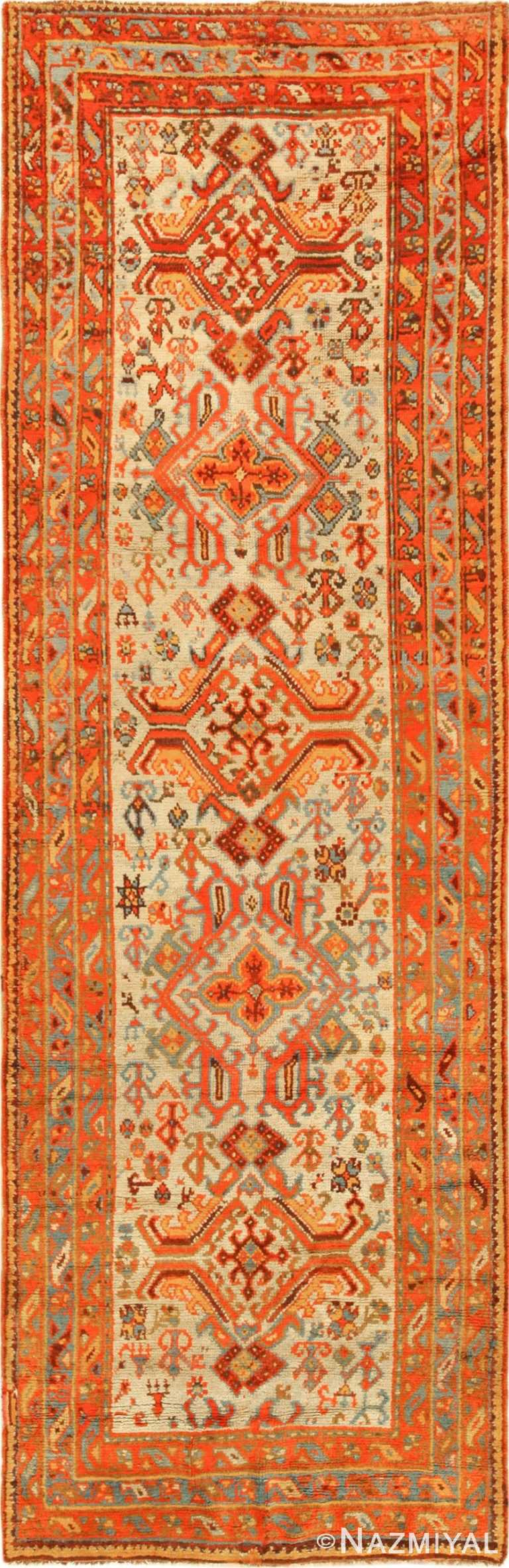 antique oushak turkish rug runner 49364 Nazmiyal