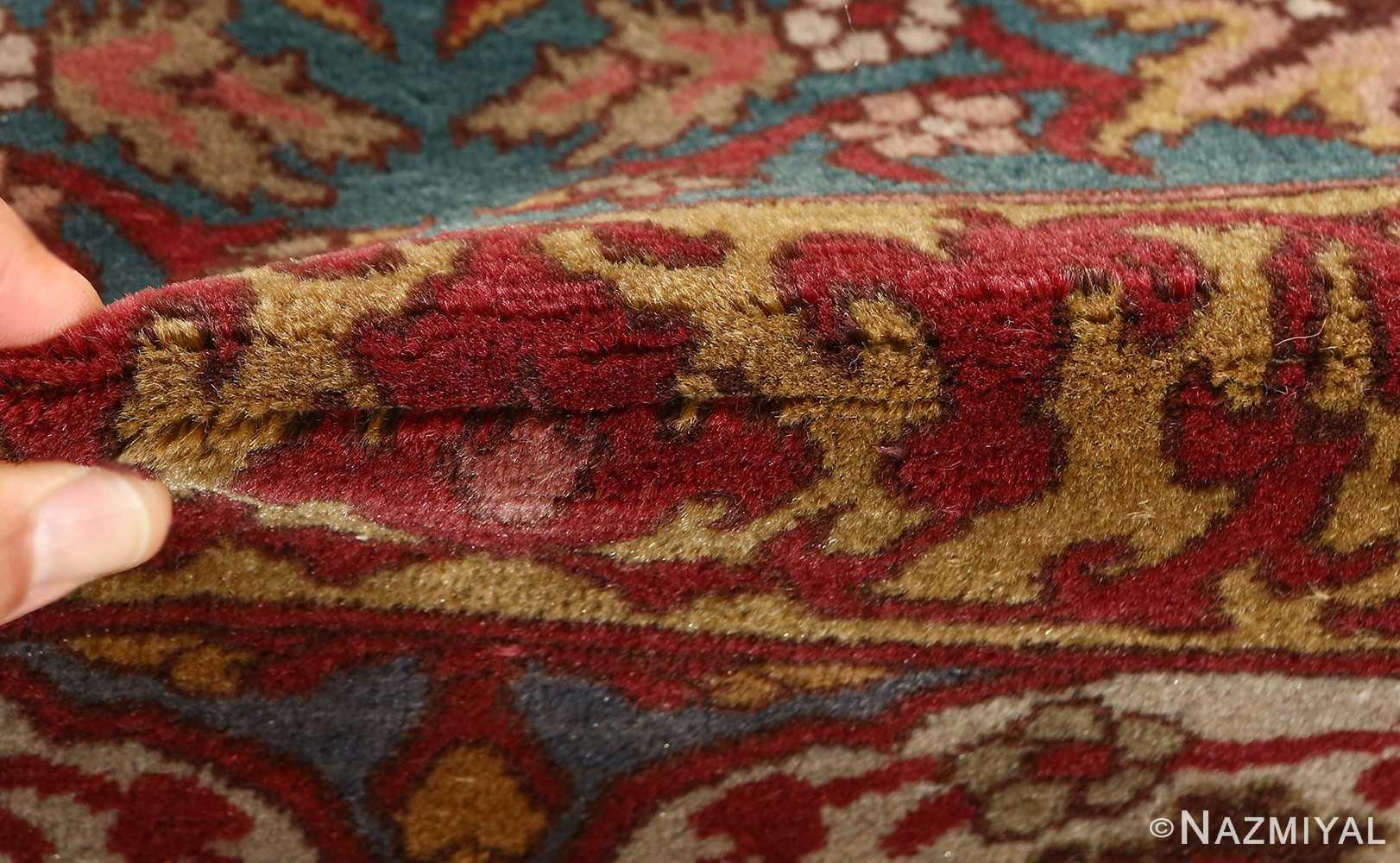 antique prayer design agra indian rug 51175 pile Nazmiyal