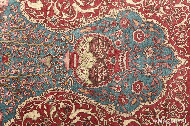 antique prayer design agra indian rug 51175 vase Nazmiyal