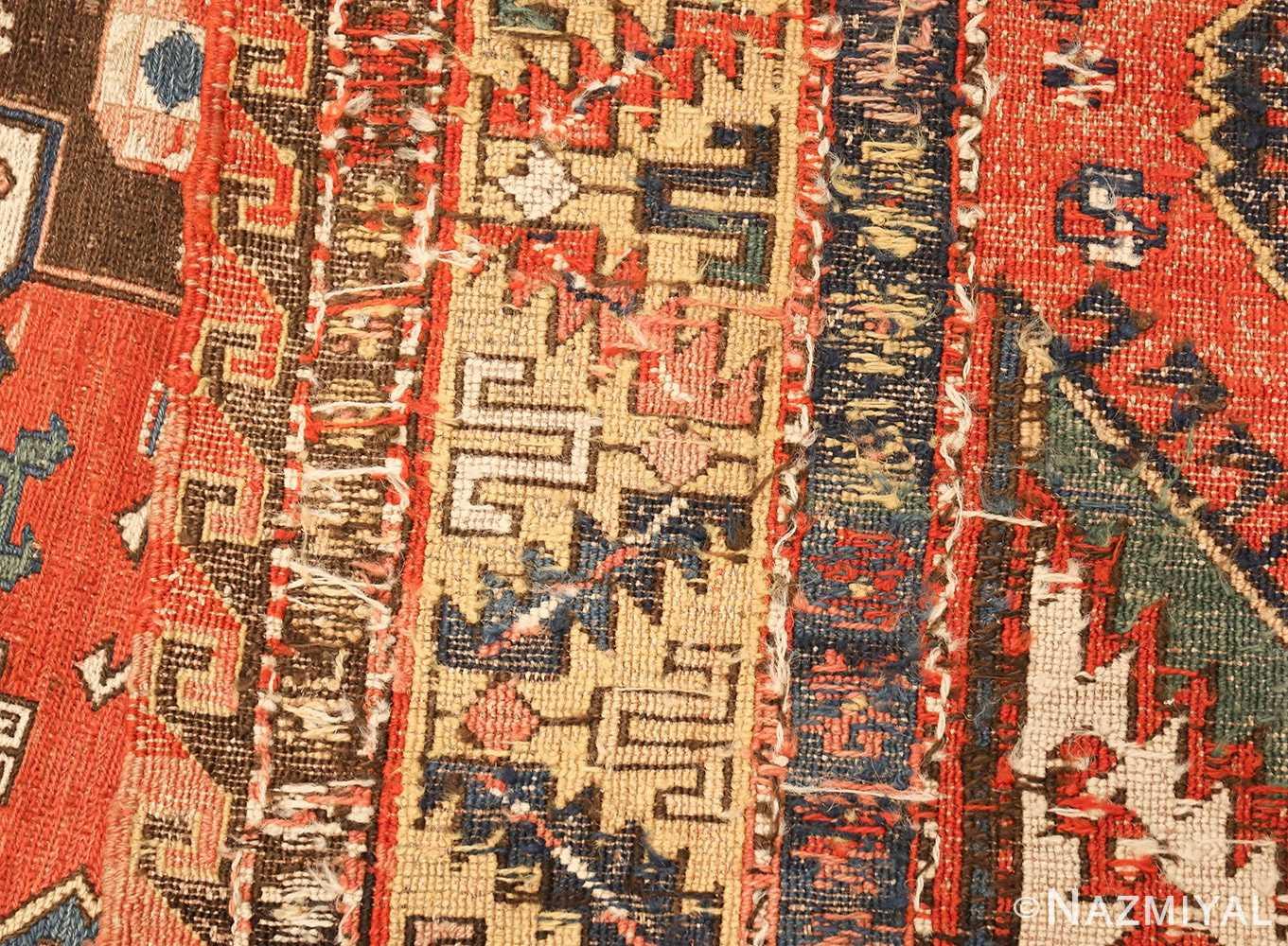 antique red background soumak caucasian rug 49341 weave Nazmiyal