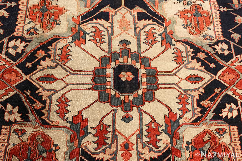antique red serapi persian rug 49349 center Nazmiyal