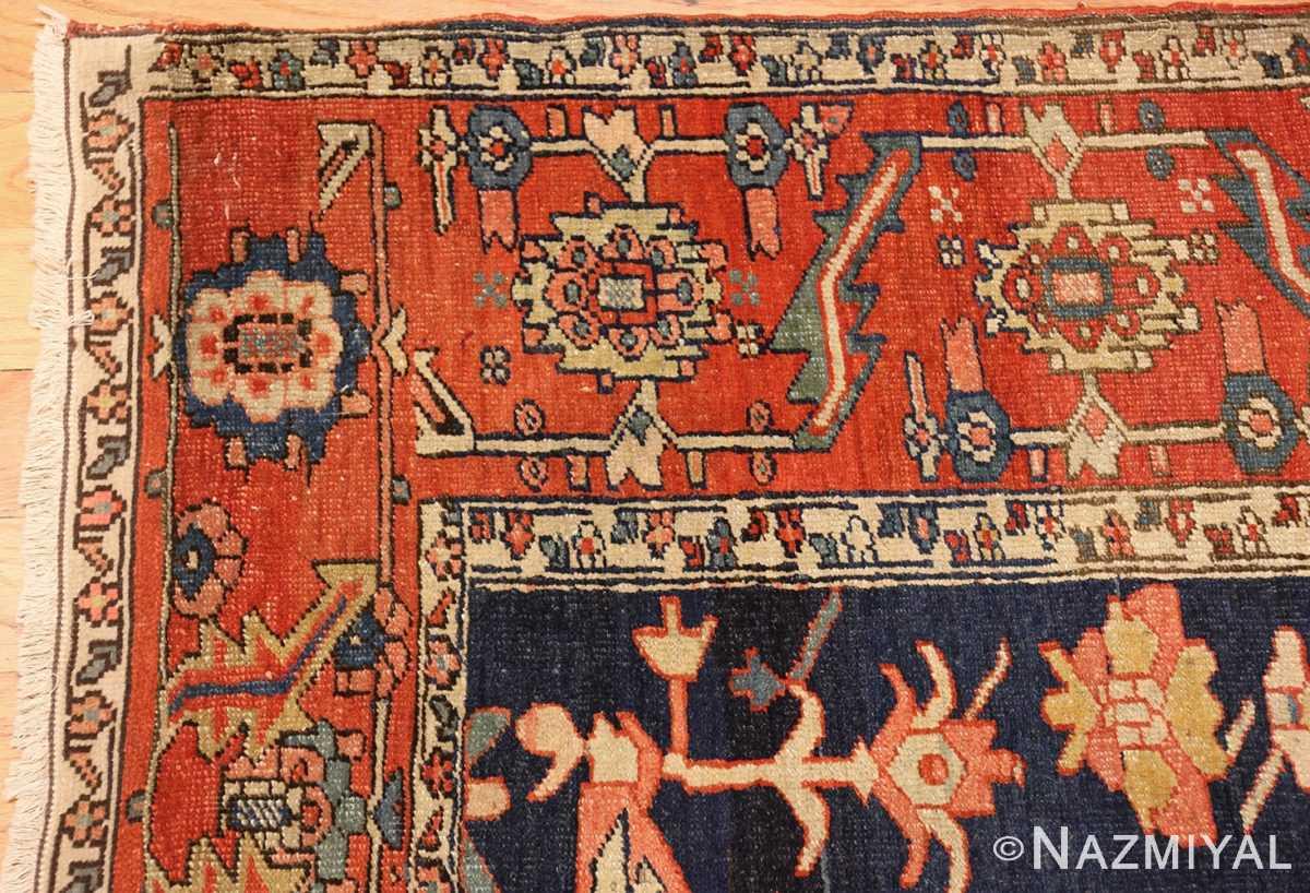 antique red serapi persian rug 49349 corner Nazmiyal