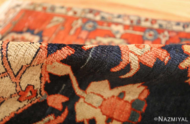 antique red serapi persian rug 49349 pile Nazmiyal