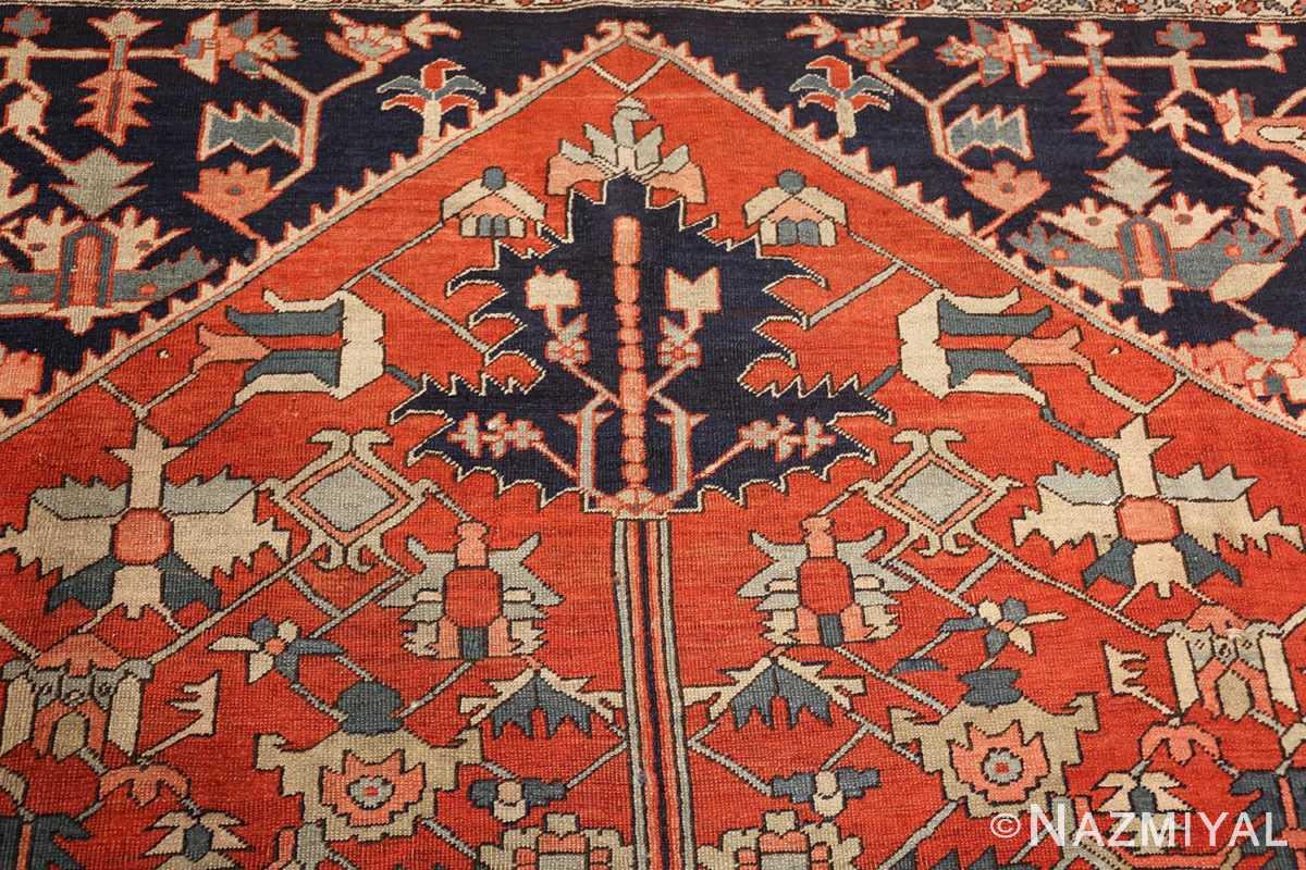 antique red serapi persian rug 49349 top Nazmiyal