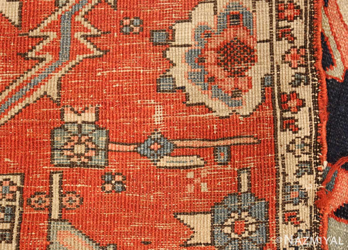 antique red serapi persian rug 49349 weave Nazmiyal