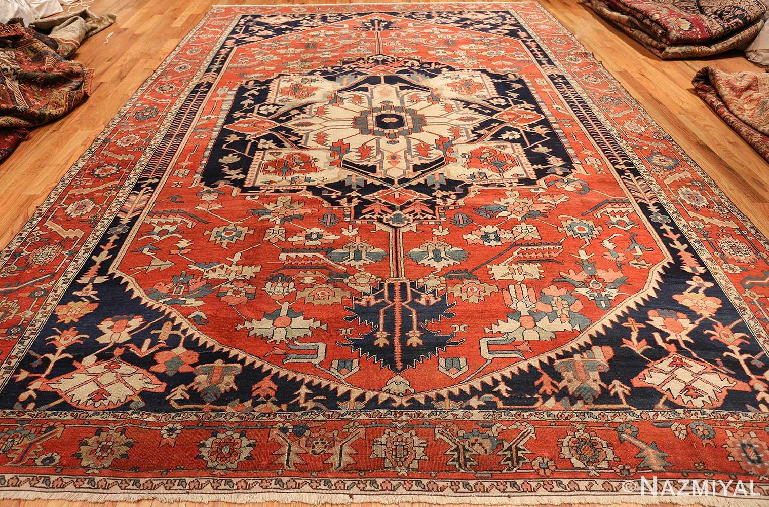 Antique Red Serapi Persian Rug 49349