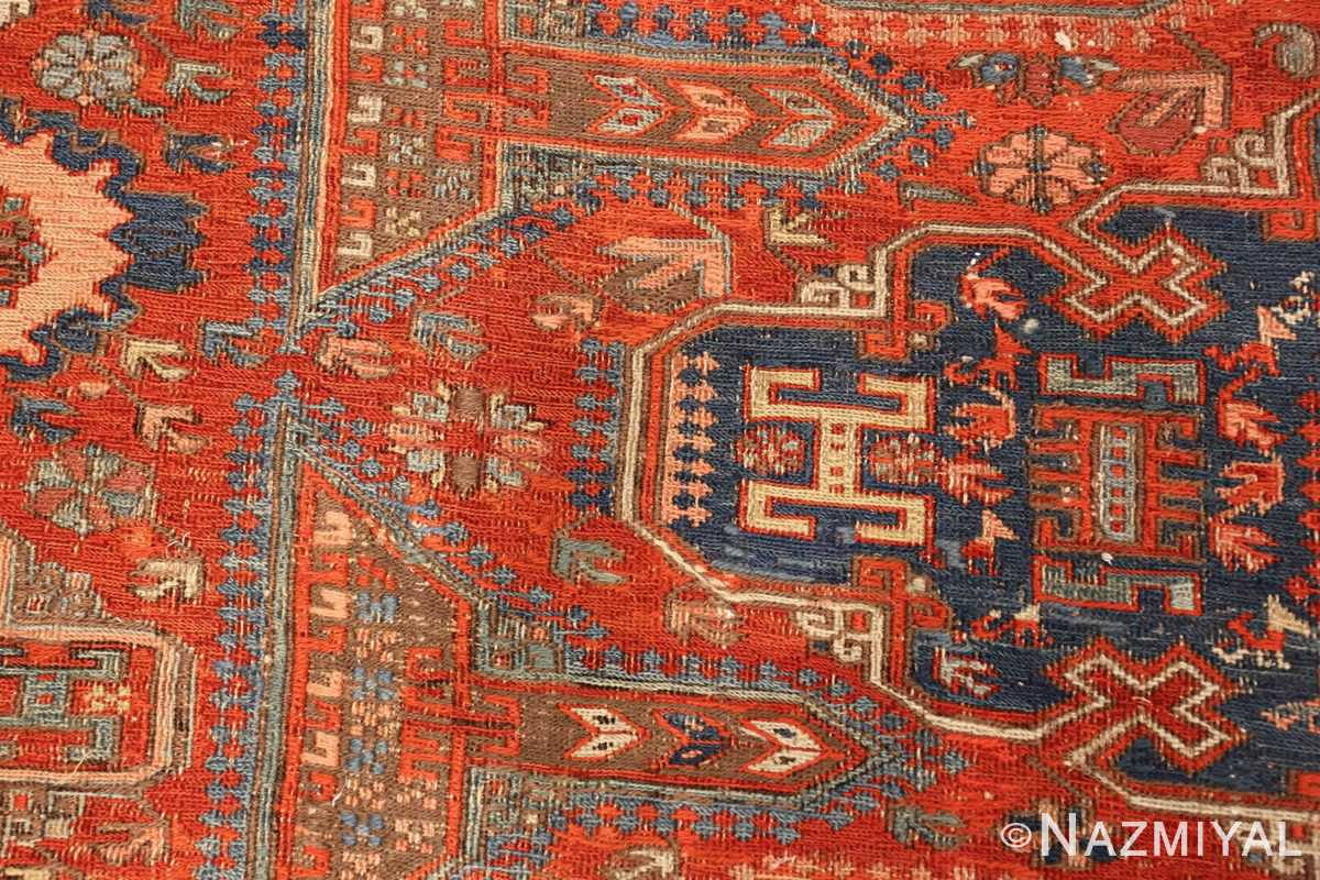 antique red soumak caucasian rug 49344 animal Nazmiyal