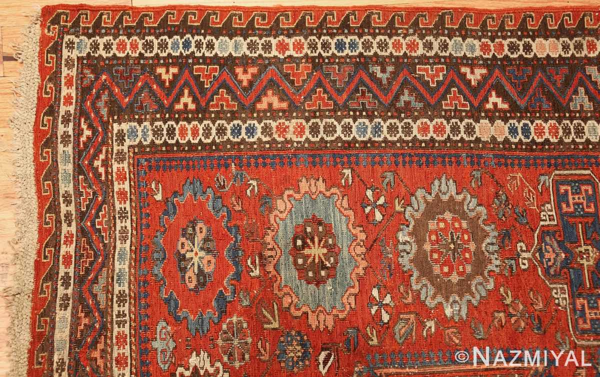antique red soumak caucasian rug 49344 corner Nazmiyal