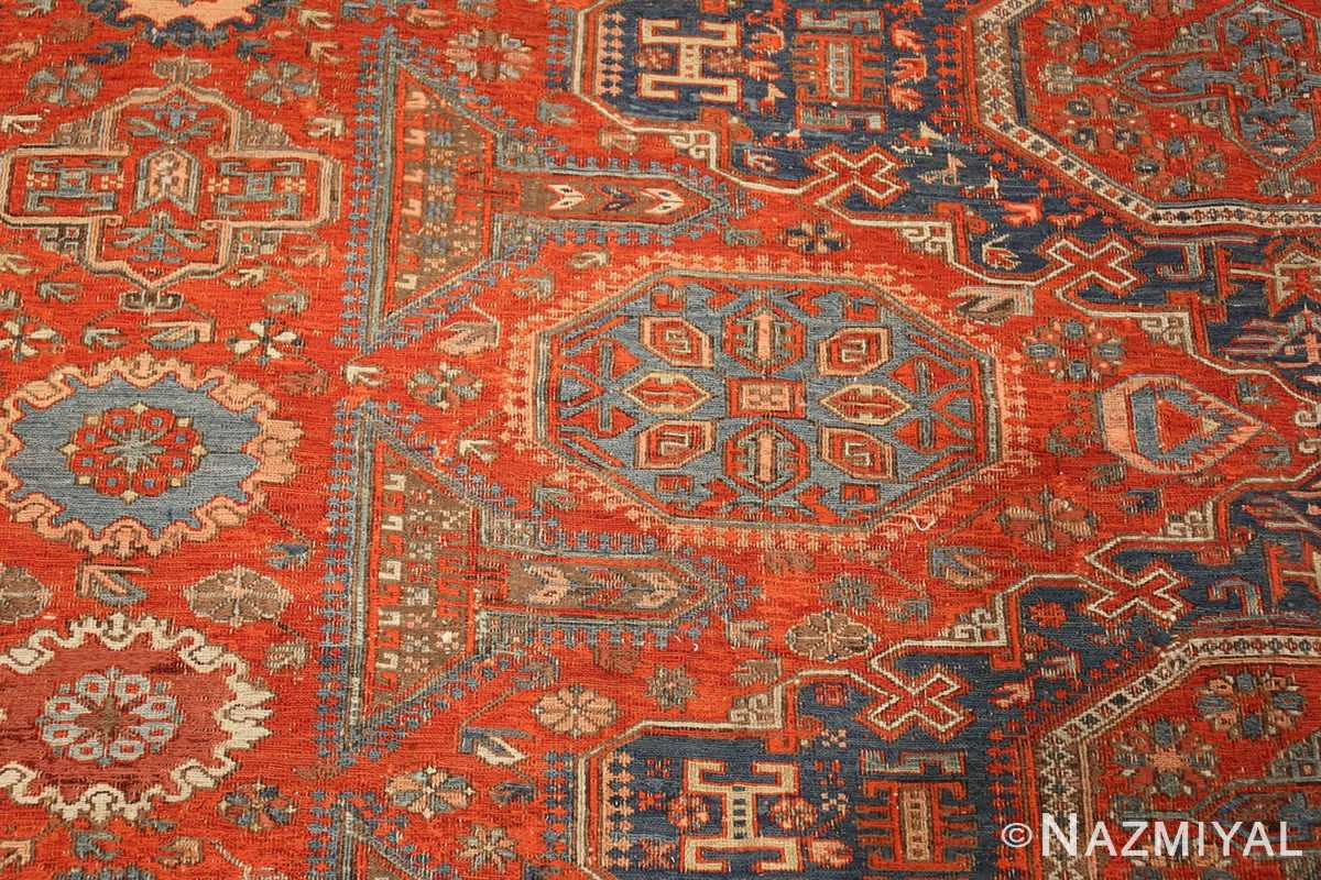 antique red soumak caucasian rug 49344 design Nazmiyal